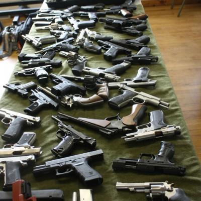 Basic Pistol class firearms display
